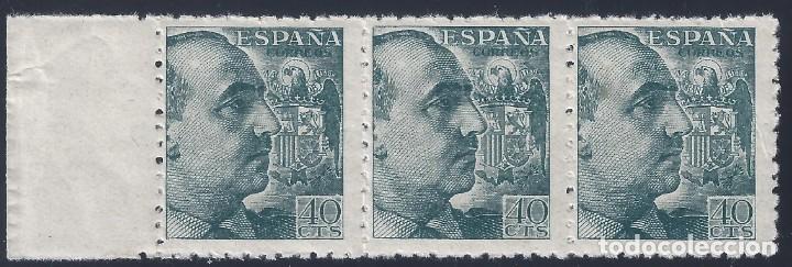 EDIFIL 925 GENERAL FRANCO 1940-1945 (VARIEDAD..CALCADO PARCIAL AL REVERSO). LUJO. MNH ** (Sellos - España - Estado Español - De 1.936 a 1.949 - Nuevos)