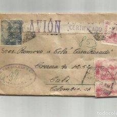 Selos: CIRCULADA 1949 DE MALAGA A CALI COLOMBIA. Lote 217214837