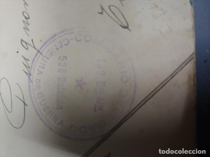 Sellos: ANTIGUO SOBRE CORREO CAMPAÑA 132 BDA MTA COMISARIO DELEGADO - CENSURA GUERRA -Nº 528- - Foto 4 - 59063770
