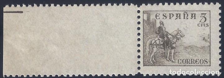 EDIFIL 816B CID 1937-1940. EJEMPLAR CON BORDE DE HOJA. VALOR CATÁLOGO: 44 €. LUJO. MNH ** (Sellos - España - Estado Español - De 1.936 a 1.949 - Nuevos)