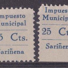 Selos: LL4- FISCALES LOCALES IMPUESTO MUNICIPAL SARIÑENA (HUESCA) ** SIN FIJASELLOS.. PERFECTOS. Lote 218057520
