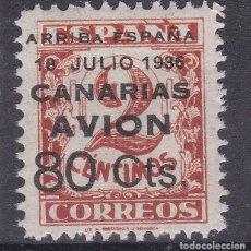 Selos: LL4- GUERRA CIVIL LOCALES CANARIAS EDIFIL 21HAA VARIEDAD ** SIN FIJASELLOS. Lote 218217360