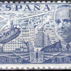 Sellos: 1941-1947 - JUAN DE LA CIERVA Y AUTOGIRO C-30 SOBREVOLANDO MADRID - EDIFIL 944. Lote 218489305