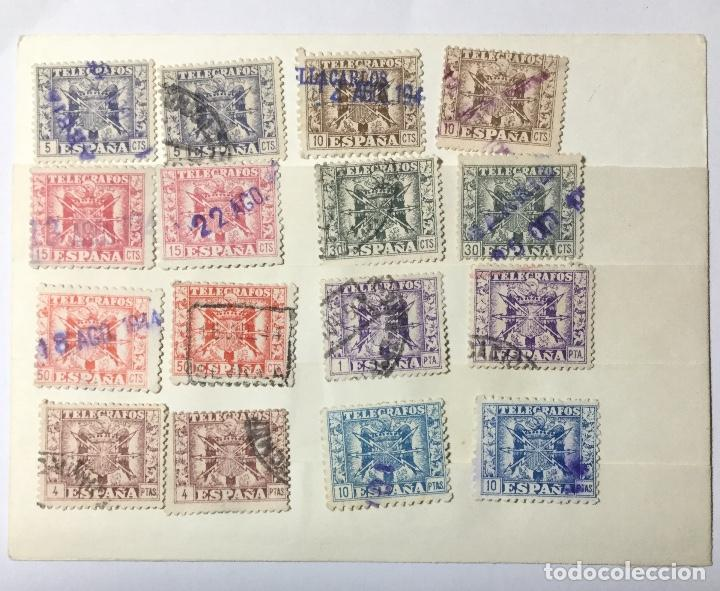 LOTE SELLOS TELÉGRAFOS , 1949 , 16 SELLOS , 8 VALORES (Sellos - España - Estado Español - De 1.936 a 1.949 - Usados)