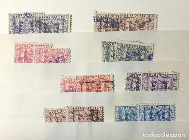 Sellos: LOTE SELLOS TELÉGRAFOS , 1949 , 16 SELLOS , 8 VALORES - Foto 2 - 218518526
