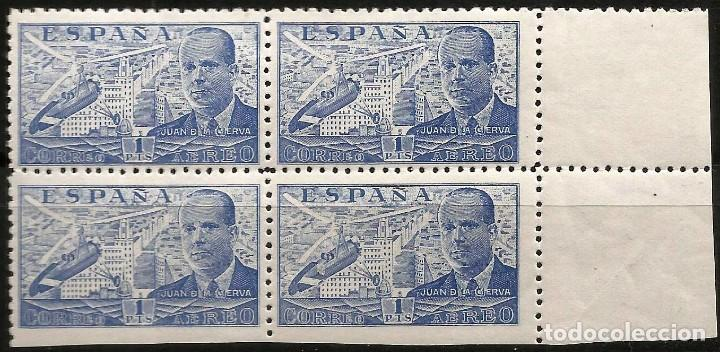 EDIFIL 944SMZ JUANDE LA CIERVA - BLOQUE DE CUATRO - VARIEDAD (Sellos - España - Estado Español - De 1.936 a 1.949 - Nuevos)