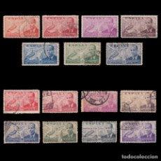 Sellos: 1939-1947.JUAN DE LA CIERVA.2 SERIES USADO EDIFIL 880-886/940-947. Lote 218631345