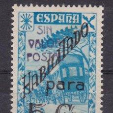 Sellos: LL16- BENEFICOS CORREOS EDIFIL 41 NUEVO . SOBRECARGA SIN VALOR POSTAL. Lote 218638105