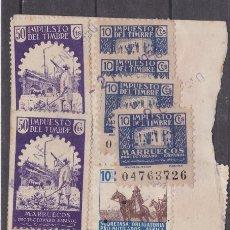Sellos: DD17- FISCALES COLONIAS. GRAN FRAGMº LETRA CON FRANQUEO COMPLENTARIO MÚLTIPLE MARRUECOS .2 IMÁGENES. Lote 218648807