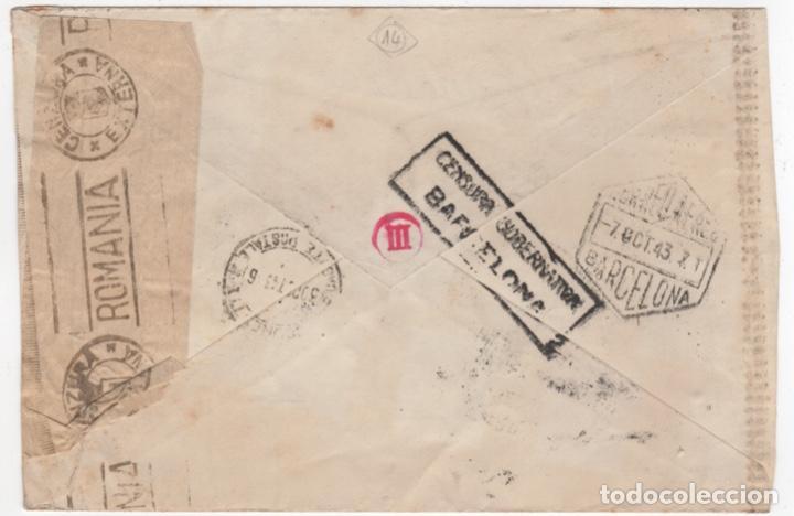 Sellos: 1943 sobre dirigido a Rumania desde Barcelona - Foto 2 - 219143407