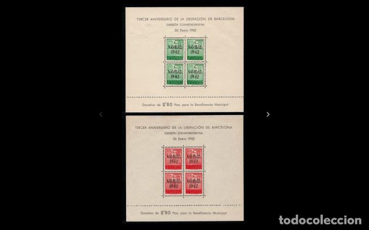 ESPAÑA - 1942 - BARCELONA - EDIFIL 40/41 - SERIE COMPLETA - MNH** - NUEVAS - VALOR CATALOGO 145€. (Sellos - España - Estado Español - De 1.936 a 1.949 - Nuevos)