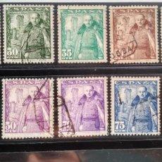 Sellos: SELLOS ESPAÑA 1024-1032. FRANCO Y CASTILLO DE LA MOTA. ESTADO ESPAÑOL. 1948-1954. USADO.. Lote 220552906