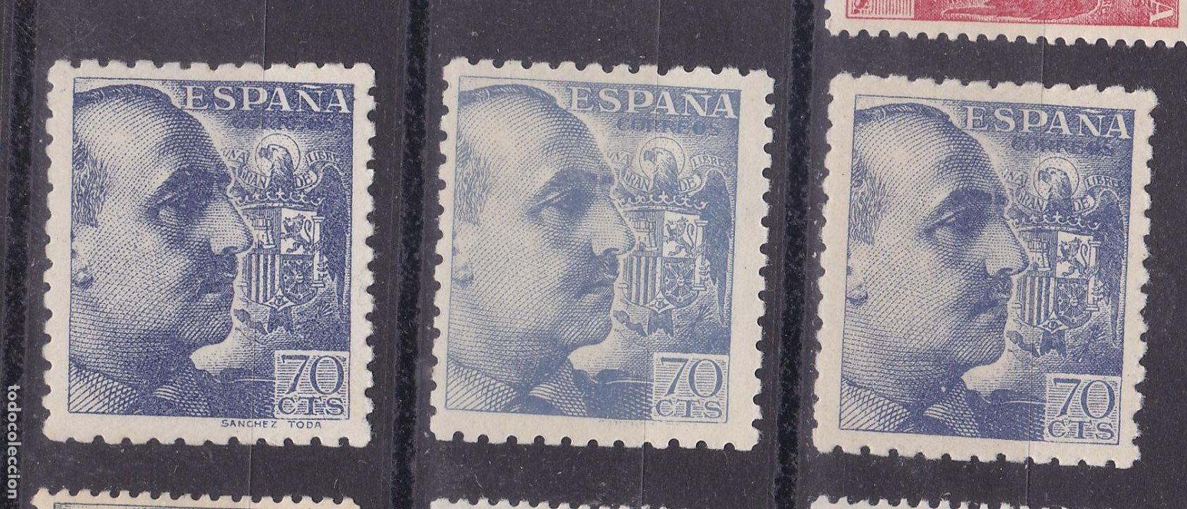 LL3- FRANCO EDIFIL 929 X 3 SELLOS NUEVOS VARIEDADES ** SIN FIJASELLOS. (Sellos - España - Estado Español - De 1.936 a 1.949 - Nuevos)