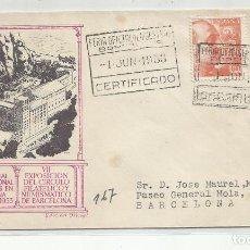 Sellos: XXI FERIA DE MUESTRAS 1953 DE BARCELONA A BCN. Lote 221258996