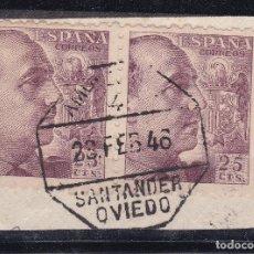 Sellos: CL12-31- FRANCO MATASELLOS AMBULANTE 4 SANTANDER OVIEDO. Lote 221269946