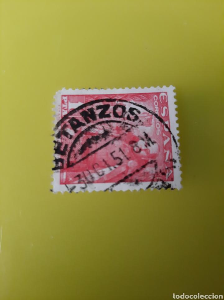 BETANZOS LA CORUÑA MATASELLO 1951 FRANCO EDIFIL 1932 (Sellos - España - Estado Español - De 1.936 a 1.949 - Usados)