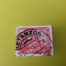 Sellos: BETANZOS LA CORUÑA MATASELLO 1951 FRANCO EDIFIL 1932. Lote 221330228