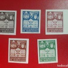 Sellos: SELLOS BARCELONA AÑO 1942 EDIFIL 33/37 SIN DENTAR PRECIO CAT 74 EUROS. Lote 221672216