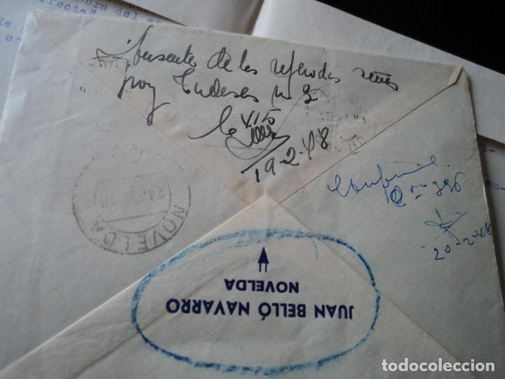 Sellos: sobre con carta en interior de pedido a centro editorial minerva devuelta a su procedencia 1948 - Foto 3 - 221761507