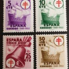 Sellos: ESPAÑA N°1066/69 MNH**TUBERCULOSOS 1949 (FOTOGRAFÍA REAL). Lote 221783187