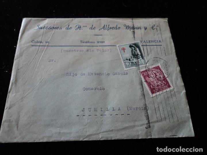 SOBRE FRANQUEADO SUCESORES DE HERMANOS DE ALFREDO MARIN (Sellos - España - Estado Español - De 1.936 a 1.949 - Cartas)