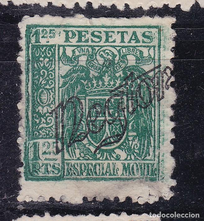 JJ7- FISCALES ESPECIAL MÓVIL AGUILA Y ESCUDO 1.25 PTAS SOBRECARGA PARTICULAR NEGTOR (*) (Sellos - España - Estado Español - De 1.936 a 1.949 - Usados)