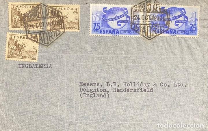 ESTADO ESPAÑOL, CARTA CIRCULADA EN EL AÑO 1949 (Sellos - España - Estado Español - De 1.936 a 1.949 - Cartas)