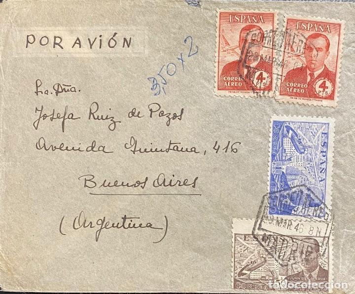 ESTADO ESPAÑOL, CARTA CIRCULADA EN EL AÑO 1946 (Sellos - España - Estado Español - De 1.936 a 1.949 - Cartas)