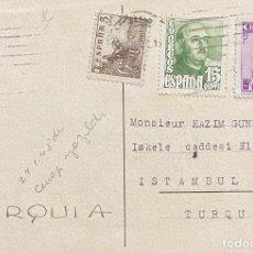 Sellos: ESPAÑA, ESTADO ESPAÑOL, TARJETA POSTAL CIRCULADA EN EL AÑO 1949. Lote 222306476