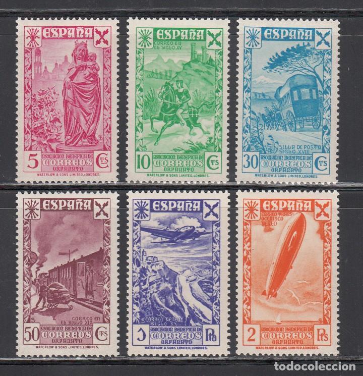 BENEFICENCIA, 1938 EDIFIL Nº 21 / 26 /**/, HISTORIA DEL CORREO. SIN FIJASELLOS. (Sellos - España - Estado Español - De 1.936 a 1.949 - Nuevos)