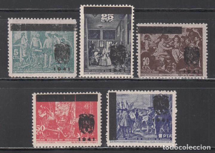 BENEFICENCIA, 1941 EDIFIL Nº NE 35 / NE 39 /**/, CUADROS DE VELÁZQUEZ, SOBRECARGADOS. (Sellos - España - Estado Español - De 1.936 a 1.949 - Nuevos)