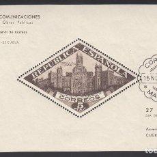 Sellos: BENEFICENCIA,1937 EDIFIL Nº HB 17, PALACIO DE COMUNICACIONES DE MADRID. Lote 222369532