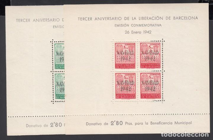 BARCELONA,1942 EDIFIL Nº 40 / 41 /**/, *NAVIDAD 1942*, SIN FIJASELLOS (Sellos - España - Estado Español - De 1.936 a 1.949 - Nuevos)