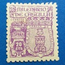 Timbres: NUEVO **. AÑO 1944. EDIFIL 974. MILENARIA DE CASTILLA.. Lote 222456811