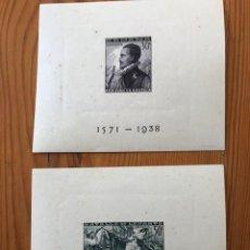 Sellos: 1938, BATALLA DE LEPANTO, HOJITAS SIN DENTAR, NUEVAS CON ALGUNA MANCHA DE OXIDO. Lote 224890012