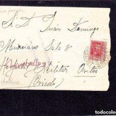 Sellos: CENSURA MILITAR 2 CARBALLINO (ORENSE) AÑO 1938- SOBRE DEST HOSPITAL MILITAR AVILÉS MARCA PATRIÓTICA. Lote 226792665