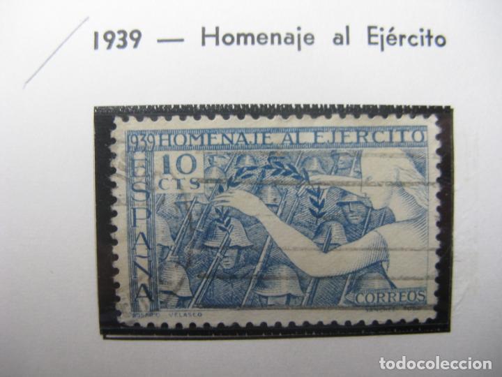 1939, HOMENAJE AL EJERCITO,EDIFIL 887 (Sellos - España - Estado Español - De 1.936 a 1.949 - Usados)