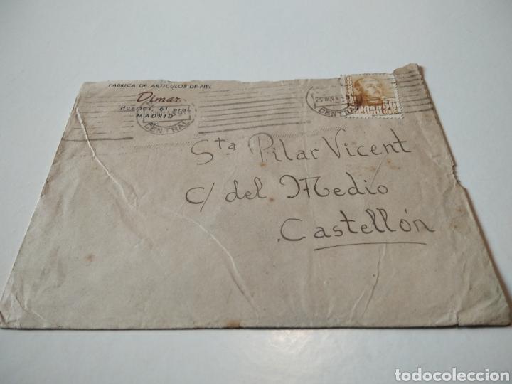FÁBRICA DE ARTÍCULOS DE PIEL DIMAR (Sellos - España - Estado Español - De 1.936 a 1.949 - Cartas)