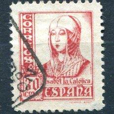 Selos: EDIFIL 823 A, 30 CTS ISABEL II, PIÉ CORTO. MATASELLADO.. Lote 227589460