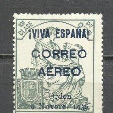 Sellos: 2796-SELLO LOCAL BURGOS GUERRA CIVIL FISCAL HABILITADO PARA USO EN CORREO AEREO SEGÚN ORDEN DE 1936.. Lote 230076780