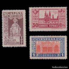 Sellos: 1937 AÑO JUBILAR COMPOSTELANO.SERIE NUEVO*.EDIFIL.833-834. Lote 230645255