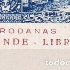 """Sellos: SELLOS ESPAÑA EPILA. PRO RODANAS.GUERRA C.GALVEZ 283A**/284A** ERROR LIBRE """"LIBRF. Lote 230960695"""