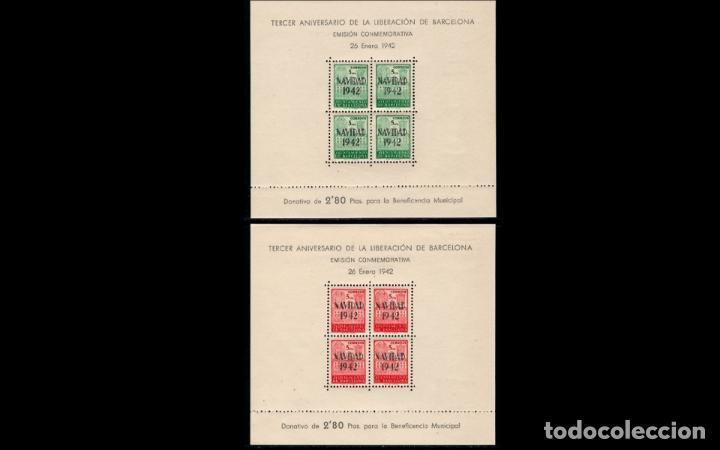ESPAÑA - BARCELONA - 1942 - EDIFIL 40/41 - MNH** - NUEVAS - VALOR CATALOGO 145€ - LUJO. (Sellos - España - Estado Español - De 1.936 a 1.949 - Nuevos)