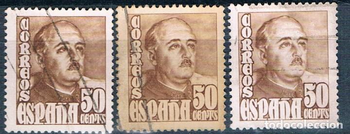ESPAÑA 1948/1954 3 SELLOS USADOS EDIFIL 1022 (Sellos - España - Estado Español - De 1.936 a 1.949 - Usados)