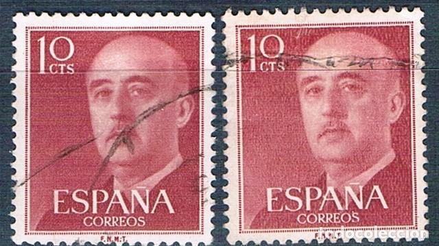 ESPAÑA 1955/1956 2 SELLOS USADOS EDIFIL 1143 (Sellos - España - Estado Español - De 1.936 a 1.949 - Usados)