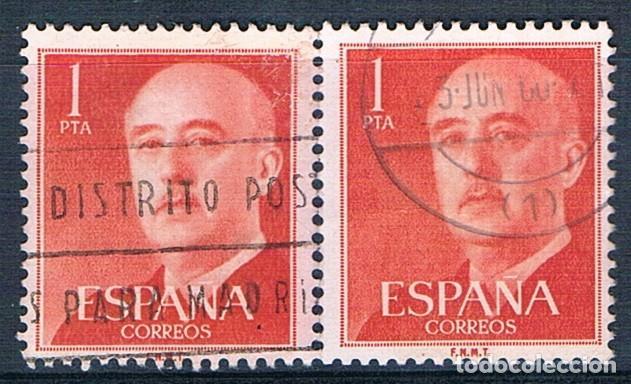 ESPAÑA 1955/1956 2 SELLOS USADOS EDIFIL 1153 (Sellos - España - Estado Español - De 1.936 a 1.949 - Usados)