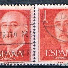 Sellos: ESPAÑA 1955/1956 2 SELLOS USADOS EDIFIL 1153. Lote 232534510