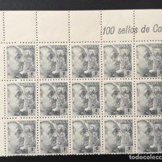 Sellos: 1940/45-ESPAÑA EDIFIL 930 MNH** BLOQUE DE 15 FRANCO. Lote 232824787