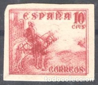 CID - 917S, SIN DENTAR, MACULATURA CON IMPRESIÓN AL REVERSO - 10 CENTIMOS ROSA (Sellos - España - Estado Español - De 1.936 a 1.949 - Nuevos)