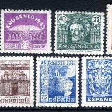 Sellos: XS- AÑO SANTO COMPOSTELANO 1943-1944 SERIE COMPLETA EDIFIL 961-969 MH*. Lote 233040120